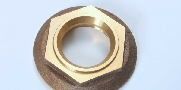 Water hydrant hex nut